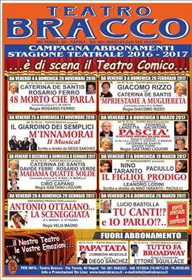 Teatri Napoli Programmazione Date Titoli E Locandine