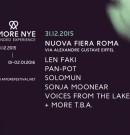 Amore Festival NYE – Extented Experience @ 30-31.12.2015 / 01-02.01.2016 – Nuova Fiera di Roma – Circolo degli Illuminati – ROMA