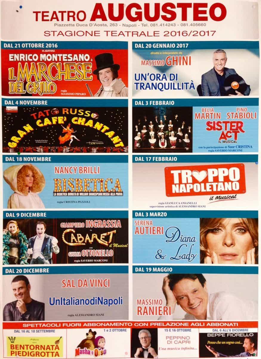 Teatro Augusteo Stagione 2016-17