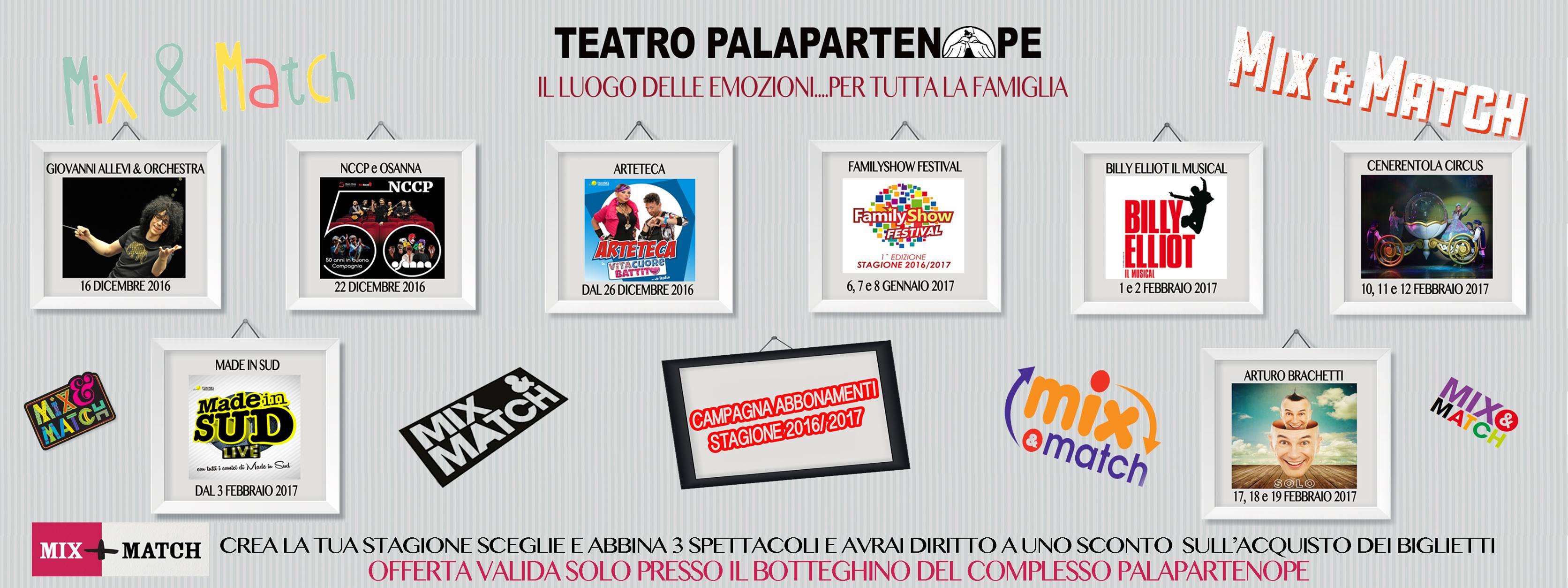 Teatro Palapartenope Stagione 2016-17