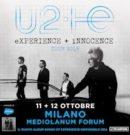 eXPERIENCE + iNNOCENCE Tour 2018 degli U2 – 11 e 12 OTTOBRE 2018 – Assago (Mi), Mediolanum