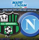 Sassuolo vs Napoli del 31.03.2018 si giocherà alle ore 18.