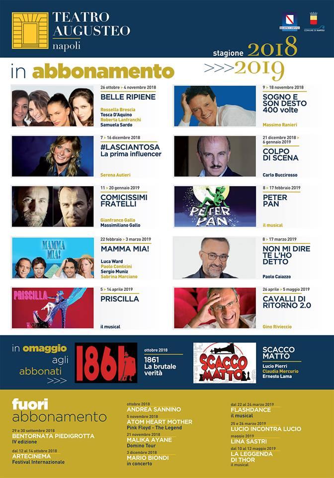 Stagione Teatrale Augusteo 2018/2019