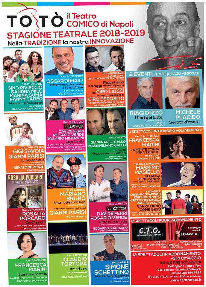 Stagione Teatrale - Teatro Totò - 2018/2019