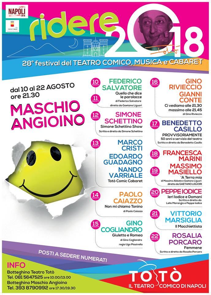 Rassegna Ridere - Teatro Totò - 2018/2019