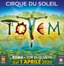 Cirque du Soleil – dal 1 Aprile 2020 @Tor di Quinto – Roma
