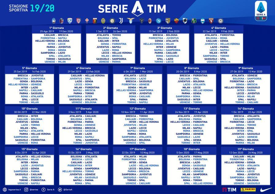 Calendario Serie A 17 18.Serie A Tkt Point