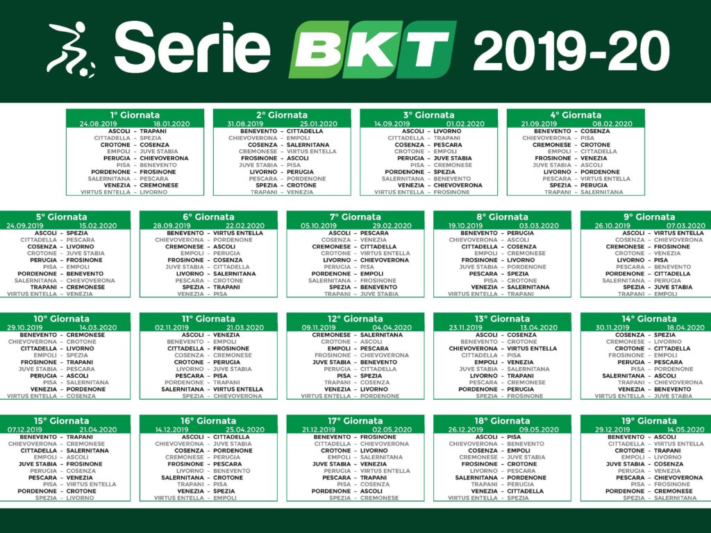 Calendario Della Salernitana.Serie B Tkt Point