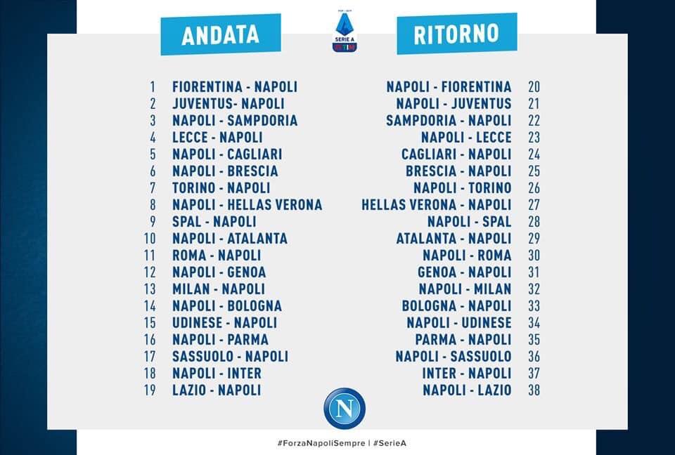 Calendario Campionato Di Calcio.Calendario Ss Calcio Napoli E Prezzi Delle Singole Partite